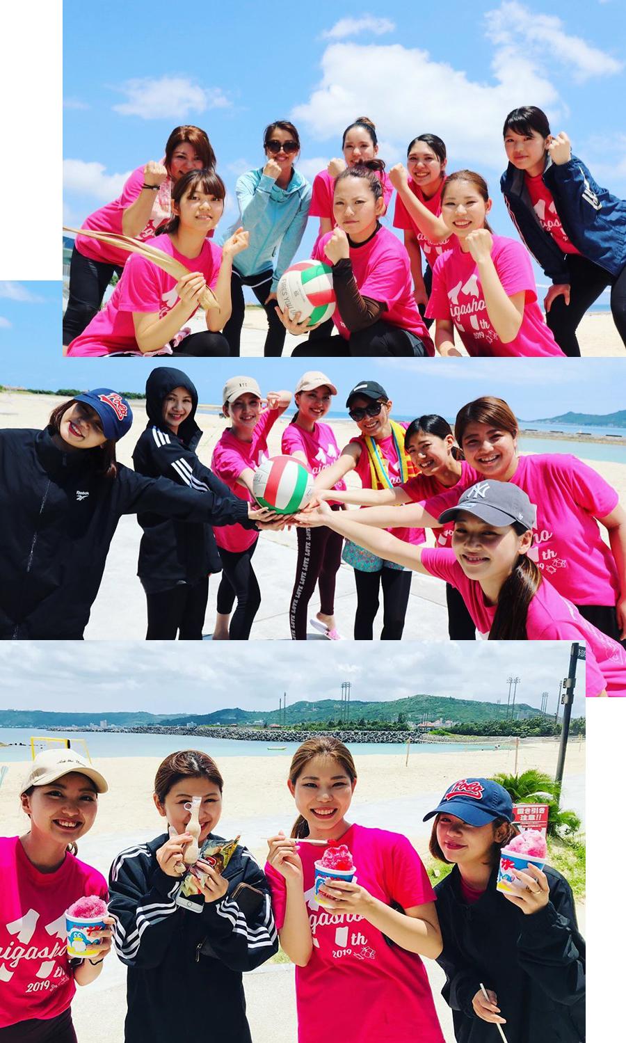 愛雅粧沖縄校2019_レクレーションでビーチへ_08